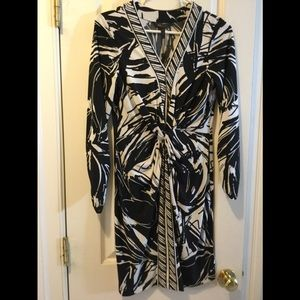 BCBGMAXAZRIA black and white dress